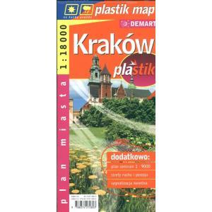 Kraków laminowany plan miasta demart