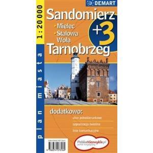 Sandomierz. Stalowa Wola Plus 3 Plan miasta