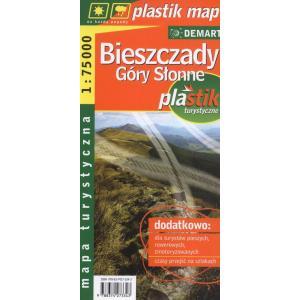 Bieszczady laminowana mapa turystyczna