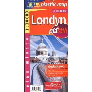 Londyn laminowany plan miasta