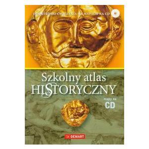 Szkolny Atlas Historyczny + CD (Dodatkowo Ćwiczenia na Mapach na CD)