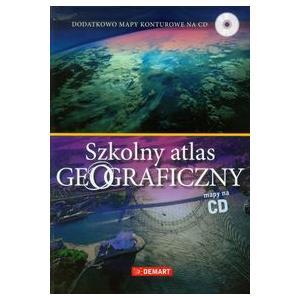 Szkolny Atlas Geograficzny + Mapy Konturowe na CD