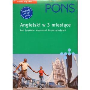 Pons Angielski w 3 miesiące Podręcznik z kompletem płyt CD