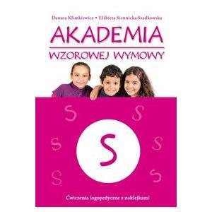 Akademia Wzorowej Wymowy S. Ćwiczenia Logopedyczne z Naklejkami