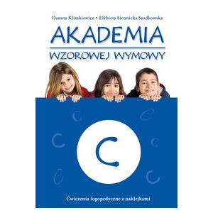 Akademia Wzorowej Wymowy C. Ćwiczenia Logopedyczne z Naklejkami