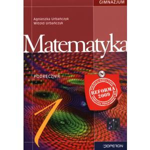 Matematyka 1. Podręcznik. Klasa 1. Gimnazjum