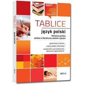 Tablice: język polski (literatura polska + wiedza o literaturze + wiedza o języku) oprawa miękka