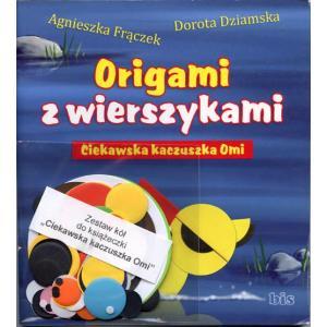 Origami z wierszykami. Ciekawska kaczuszka Omi + zestaw papieru