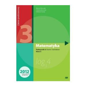 Matematyka LO 3 Podręcznik Zakres podstawowy