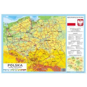 Podkładka na Biurko. Polska Mapa Fizyczna