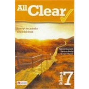 All Clear. Zeszyt do Języka Angielskiego. Klasa 7. Szkoła Podstawowa