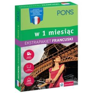 PONS Francuski w 1 miesiąc Ekstrapakiet z 1 tablicą językową i kursem online