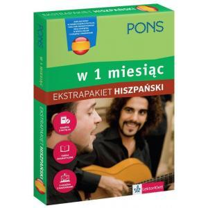 PONS Hiszpański w 1 miesiąc Ekstrapakiet z 1 tablicą językową i kursem online