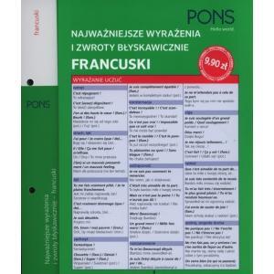 PONS Najważniejsze wyrażenia i zwroty błyskawicznie Francuski