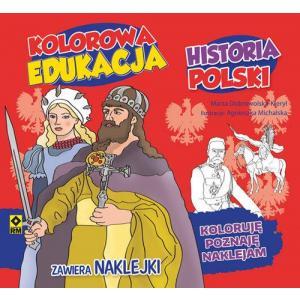 Kolorowa Edukacja Historia Polski Naklejki