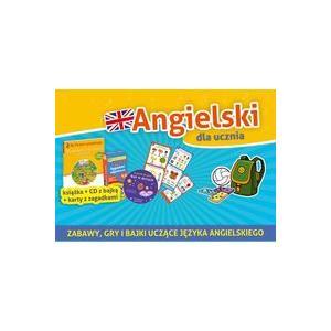 Angielski Dla Ucznia (6+). Pakiet Książka + CD z Bajką + Karty z Zagadkami