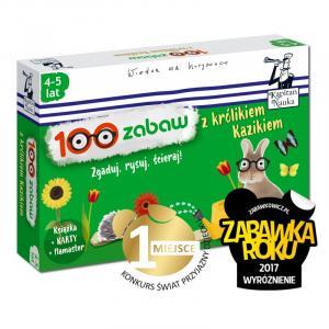 Pakiet 100 zabaw z królikiem Kazikiem 4-5 lat