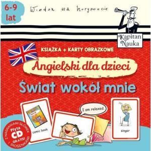 Angielski Dla Dzieci Świat Wokół Mnie + Karty Obrazkowe + CD
