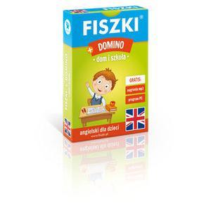 Fiszki. Język angielski. + Gra Domino. Dom i szkoła