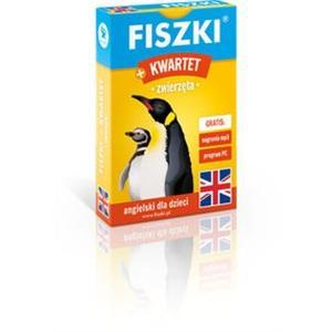 Fiszki. Język angielski + Gra Kwartet. Zwierzęta