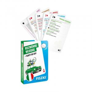 Fiszki Rozmówki + Karty do gry Włoskie