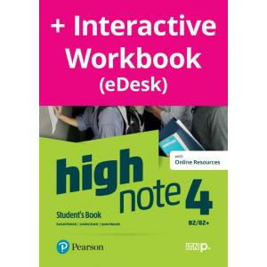 High Note 4. Student's Book + kod (Digital Resources + Interactive eBook + MyEnglishLab)