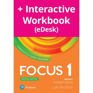 Focus Second Edition 1. Student's Book + kod (Digital Resources + Interactive eBook + MyEnglishLab)