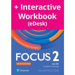 Focus Second Edition 2. Student's Book + kod (Digital Resources + Interactive eBook + MyEnglishLab)