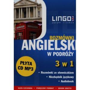 LINGO Angielski w podróży Rozmówki 3 w 1 + CD