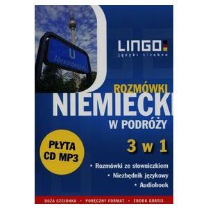 LINGO Niemiecki w podróży Rozmówki 3 w 1 + CD