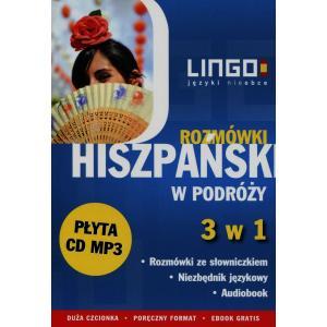 LINGO Hiszpański w podróży Rozmówki 3 w 1 + CD