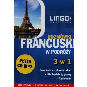 LINGO Francuski w podróży Rozmówki 3 w 1 + CD