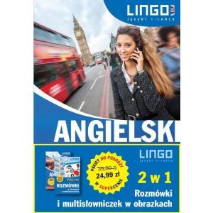 LINGO Angielski 2 w 1 Rozmówki i multisłowniczek w obrazkach Pakiet do podróży