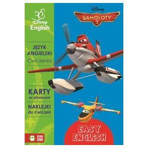 Easy English Disney English Samoloty 2 Ćwiczenia, karty ze słówkami, naklejki