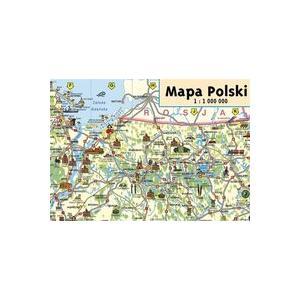 Mapa Polski Junior. Mapa Ścienna 1: 1 000 000
