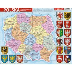 Puzzle ramkowe. Mapa administracyjna Polski