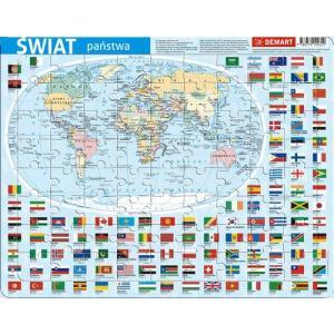 Puzzle ramkowe - Świat administracyjna
