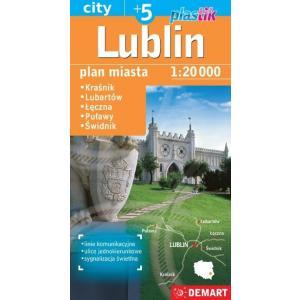 Lublin. Plan miasta w skali 1:20 000
