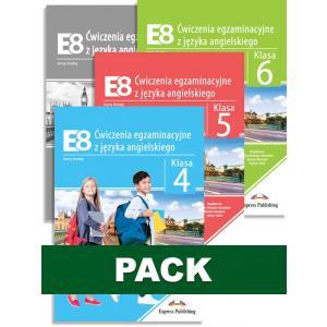 E8. Ćwiczenia egzaminacyjne z języka angielskiego. Pack Klasa 4, 5, 6 + Klucz odpowiedzi
