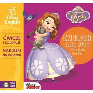 Jej wysokość Zosia. Ćwiczę i koloruję z naklejkami z Zosią - Disney English