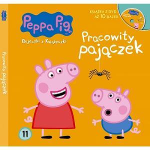 Peppa Pig. Bajeczki z Książeczki. Pracowity pajączek + DVD