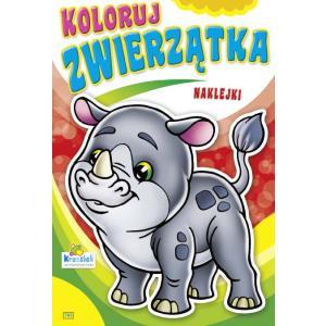 Koloruj zwierzątka. Kolorwanka z naklejkami 783