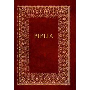 Biblia domowa Bordowa ze złoceniami