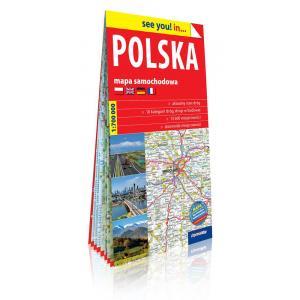 Polska Mapa samochodowa 1:700 000 2018