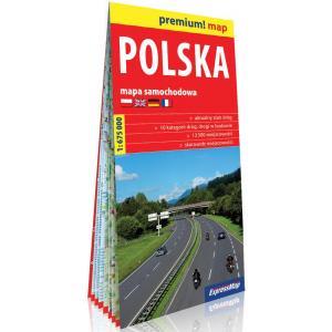 Polska mapa samochodowa 1: 675 000