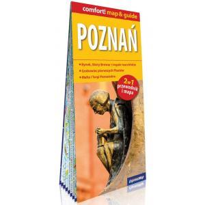 Poznań laminowany map and guide 2w1 przewodnik i mapa