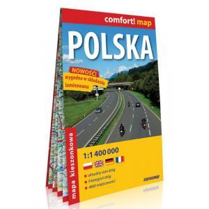 Comfort! Map. Polska kieszonkowa mapa samochodowa 1:1 400 000