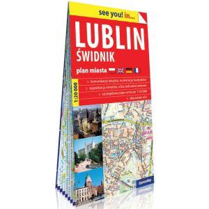 Lublin i Świdnik papierowy plan miasta 1:20 000