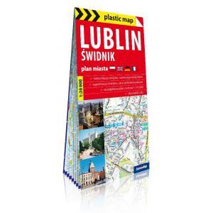Lublin i Świdnik foliowany plan miasta 1:20 000