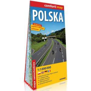 Comfort! Map. Polska laminowana mapa samochodowa 1:1 000 000